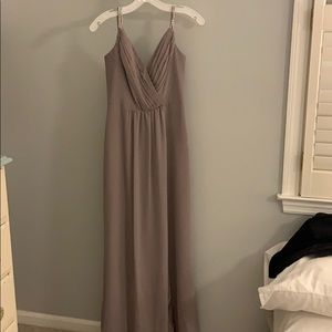 David's Bridal bridesmaid dress w/ beaded straps